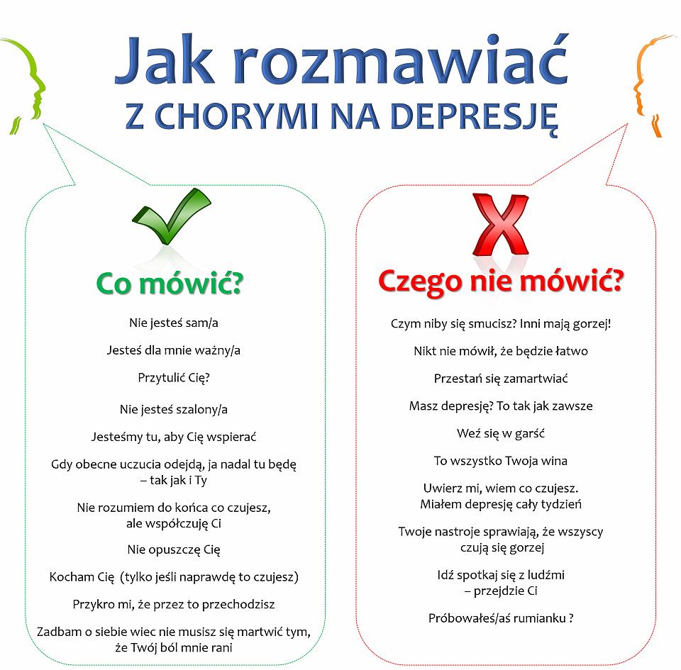 Ulotka informacyjna, jak rozmawiać z chorym na depresję