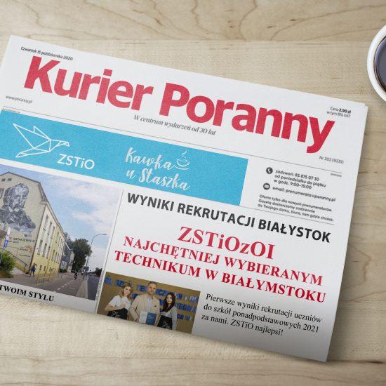 zdjęcie gazety z informacjami jak w dołączonym wpisie na stronie