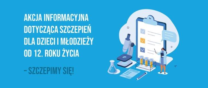 plakat informacyjny o szczepieniu